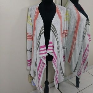 😜 3/$25 Two By Vince Camuto Open Drape Cardigan L